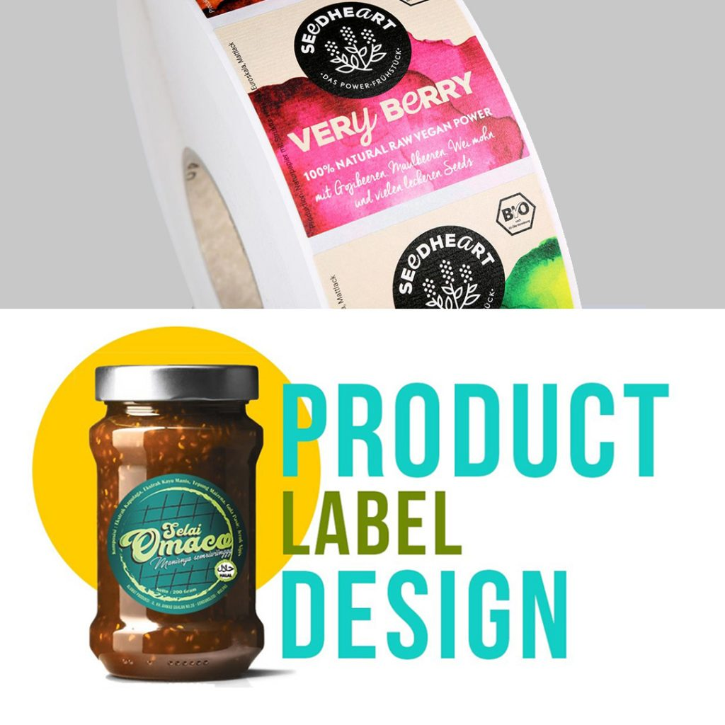 Product Label Sticker Design and Printing